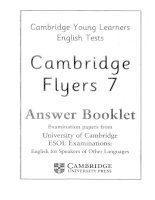 Cambridge Flyer 7 answer booklet