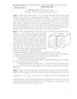 ĐỀ THI CHỌN ĐỘI TUYỂN DỰ THI HSG QUỐC GIA LỚP 12 Năm học 200 - 2011 Môn thi: VẬT LÝ pdf
