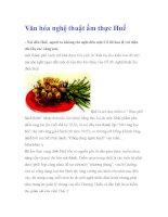 Văn hóa nghệ thuật ẩm thực Huế ppt