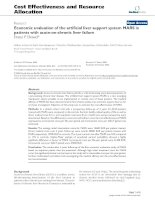 Bóa cáo y học: Economic evaluation of the artificial liver support system MARS in patients with acute-on-chronic liver failure pdf