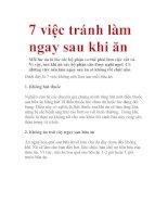 7 việc tránh làm ngay sau khi ăn ppt
