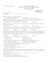 ĐỀ THI TRẮC NGHIỆM MÔN MÔN VẬT LÝ LỚP 12 NÂNG CAO - Mã đề thi 209 doc