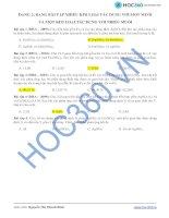 DẠNG 2: DẠNG BÀI TẬP NHIỀU KIM LOẠI TÁC DỤNG VỚI MỘT MUỐI VÀ MỘT KIM LOẠI docx