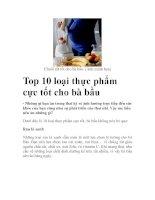 Top 10 loại thực phẩm cực tốt cho bà bầu pdf
