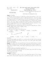 KỲ THI CHỌN HỌC SINH GIỎI TỈNH Năm học 2010-2011 Môn thi: Hóa học – Đề 11 pps