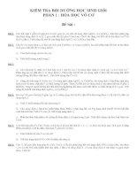KIỂM TRA BỒI DƯỠNG HỌC SINH GIỎI PHẨN 1 : HÓA HỌC VÔ CƠ ppsx