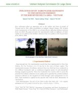 INFLUENCE OF ON FARM WATER MANGMENT TO THE METHANE EMISSION IN THE RED RIVER DELTA AREA - VIETNAM pps
