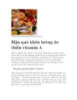 Hậu quả khôn lường do thiếu vitamin A pdf