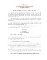 THÔNG TƯ Quy định quy trình kỹ thuật quan trắc chất lượng nước mưa pdf