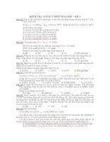 KIỂM TRA 15 PHÚT MÔN HÓA HỌC – ĐỀ 9 pps