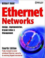 Ethernet Networks: Design, Implementation, Operation, Management 4th phần 1 pot
