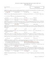 Đề trắc nghiệm tham khảo dao động điều hòa môn vật lý 12 ppsx