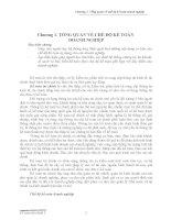 Chương: Tổng quan về chế độ kế toán doanh nghiệp docx