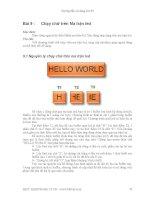 Hướng dẫn sử dụng Kit 89 - Bài 9 pot
