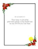 Đề tài: Thực trạng và giải pháp phát triển nghiệp vụ bao thanh toán ở các ngân hàng thương mại Viet Nam ppt
