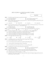 ĐỀ ÔN TẬP PHẦN I LÝ THUYẾT-DAO ĐỘNG VÀ SÓNG MÔN VẬT LÍ Mã đề 187 pdf