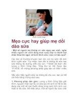 Mẹo cực hay giúp mẹ dồi dào sữa pdf