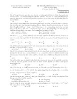 ĐỀ THI KHẢO SÁT GIỮA KÌ I VẬT LÍ 12 Năm học 2011 - 2012 MÃ ĐỀ: 567 doc