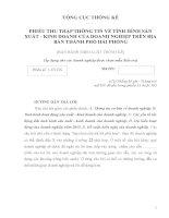 PHIẾU ĐIỀU TRA TÌM HIỂU TÌNH HÌNH SẢN XUẤT KINH DOANH CỦA CÁC DOANH NGHIỆP TRÊN ĐỊA BÀN THÀNH PHỐ HẢI PHÒNG