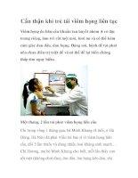 Cẩn thận khi trẻ tái viêm họng liên tục potx