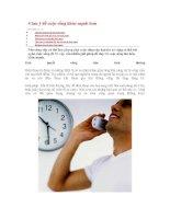 4 lưu ý để cuộc sống khỏe mạnh hơn pdf