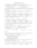 ĐỀ KIỂM TRA MÔN VẬT LÍ 12 ĐỀ 11 pptx