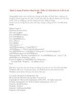 Quản lý mạng Windows bằng Script - Phần 13: Kịch bản trả về tất cả các giá trị doc