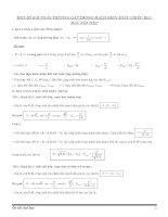 một số bài toán thường gặp trong mạch điện xoay chiều rlc mắc nối tiếp