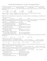 chuyên đề dao động lò xo lắc đơn – tổng hợp dao động