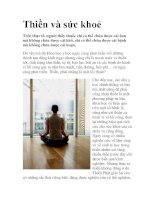 Thiền và sức khoẻ docx