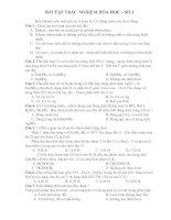 BÀI TẬP TRẮC NGHIỆM HÓA HỌC – SỐ 1 ppsx