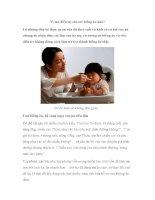 Vì sao điều trị cho trẻ biếng ăn khó doc