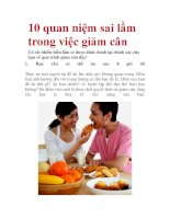 10 quan niệm sai lầm trong việc giảm cân pot