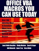 Office VBA Macros You Can Use Today phần 1 docx