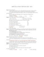 KIỂM TRA 15 PHÚT MÔN HÓA HỌC – ĐỀ 8 pptx