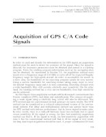 Fundamentals of Global Positioning System Receivers A Software Approach - Chapter 7 pdf