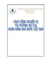 Bài tiểu luận về hoạt động thi trường mở của ngân hàng nhà nước Việt Nam ppt