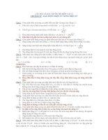 CÂU HỎI VÀ BÀI TẬP ÔN THI MÔN VẬT LÍ CHƯƠNG IV : DAO ĐỘNG ĐIỆN TỪ doc