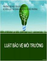 THUYET TRINH-LUAT BAO VE MOI TRUONG1 pot