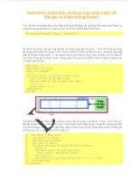 Giáo trình phân tích và tổng hợp khái niệm về Range và Cells trong Excell phần 1 doc