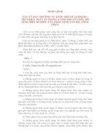 PHÁP LỆNH CỦA ỦY BAN THƯỜNG VỤ QUỐC HỘI VỀ SỬA ĐỔI, BỔ SUNG MỘT SỐ ĐIỀU CỦA PHÁP LỆNH CÁN BỘ, CÔNG CHỨC potx