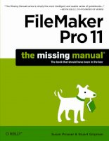 filemaker pro 11 the missing manual phần 1 pot