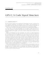 Fundamentals of Global Positioning System Receivers A Software Approach - Chapter 5 pps