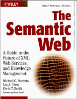 The Semantic Web:A Guide to the Future of XML, Web Services, and Knowledge Management phần 1 pot