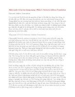 Định tuyến và lọc lưu lượng mạng - Phần 3: Network Address Translation doc