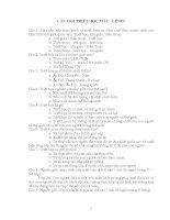 TỔNG HỢP 868 CÂU HỎI TRẮC NGHIỆM TRIẾT HỌC MÁC - LÊNIN – 1 pot