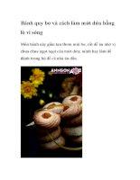 Bánh quy bơ và cách làm mứt dứa bằng lò vi sóng doc