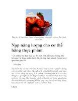 Nạp năng lượng cho cơ thể bằng thực phẩm pdf