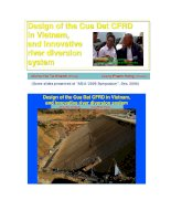 Design of the Cua Dat CFRD in Vietnam, and innovative river diversion system doc