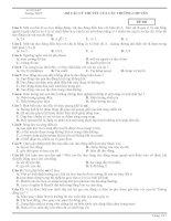 265 câu trắc nghiệm lý thuyết vật lý của các trường chuyên